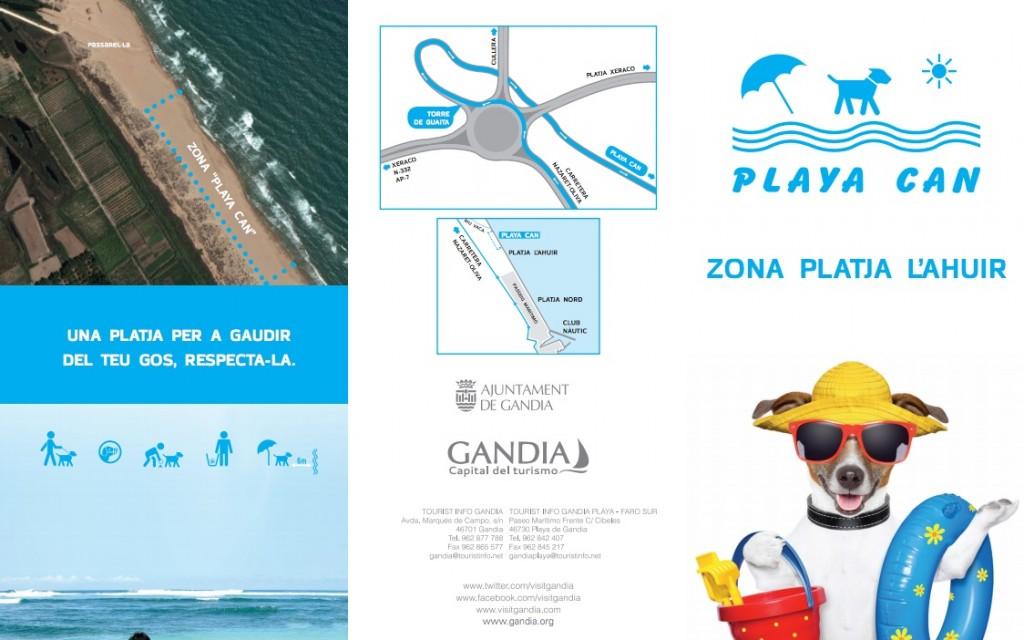 PlayaCan es la playa para perros en Gandía mejor valorada de toda la Costa Valenciana
