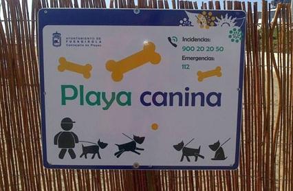 playa canina en Málaga