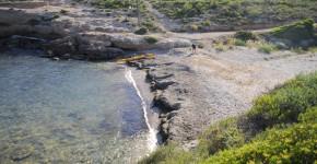 playa de Bon Caponet en Ametlla de Mar admite perros