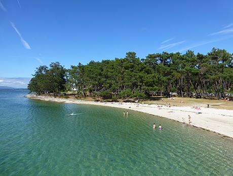 Playa canina de la Isla de La Toja