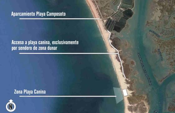 Playa para perros de Camposoto